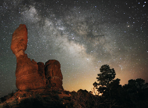 The Milky Way over Balance Rock | by bd_one_2004