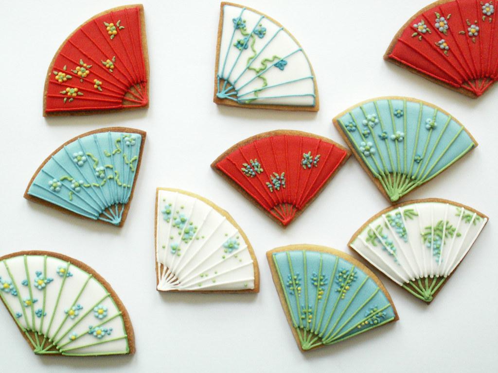 Fan cookies | Chinese Cookies. Plain Sugar cookies