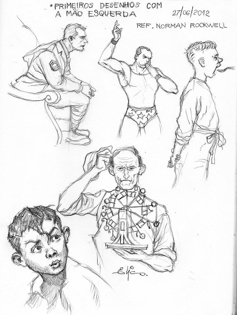 sketch 051 desenhos com a mão esquerda ontem sofri um pe flickr