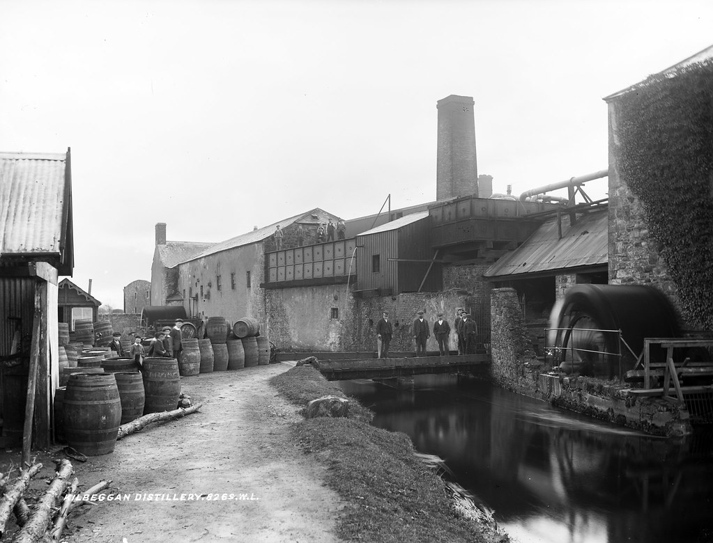 Outside of the Kilbeggan distillery, built next to a river