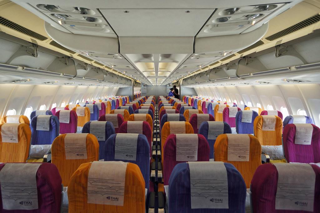Thai Airways Economy Class Cabin The Colorful Regional