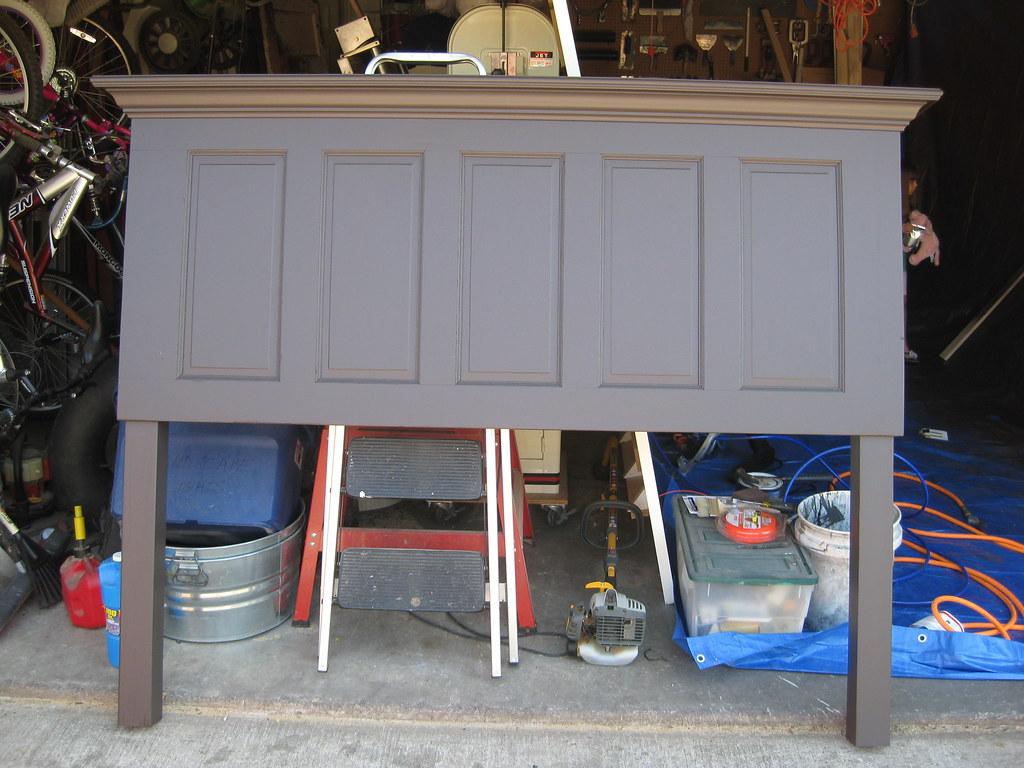 5 Panel Door Headboard Made With Legs By Vintage Headboardu2026 | Flickr