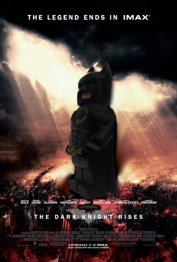 The Dark Knight Rises IMAX Poster in LEGO | The countdown fo… | Flickr