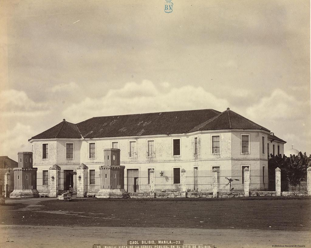 Manila. Vista de la cárcel pública, en el sitoi de Bilibid ...