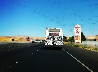 #oo #occubus on way to #hiroshima #fukushima #protest @Livermore_Lab | by Steve Rhodes