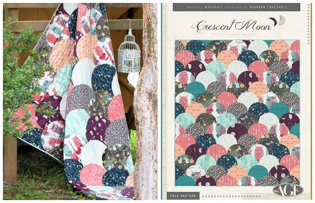 Nightfall LookBook Crescent Moon Quilt Pattern