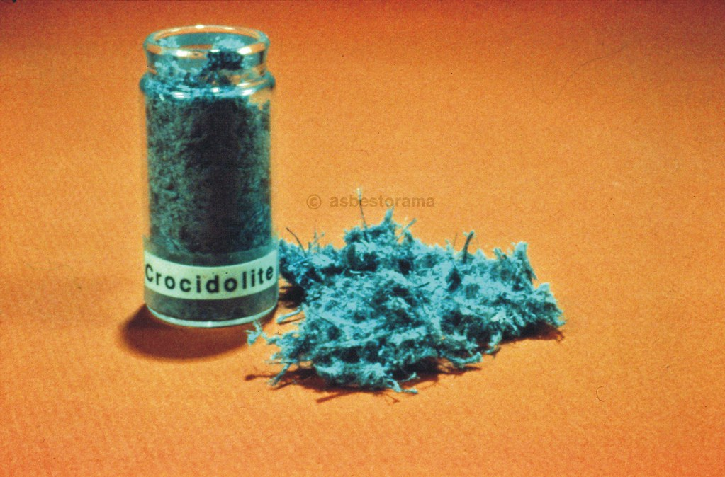 Fibrous Crocidolite Sample Blue Asbestos Image From An