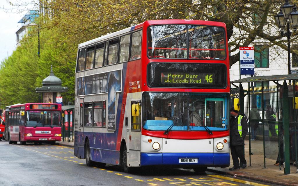 46 Bus in Birmingham UK | A No 46 Travel West Midlands bus ...