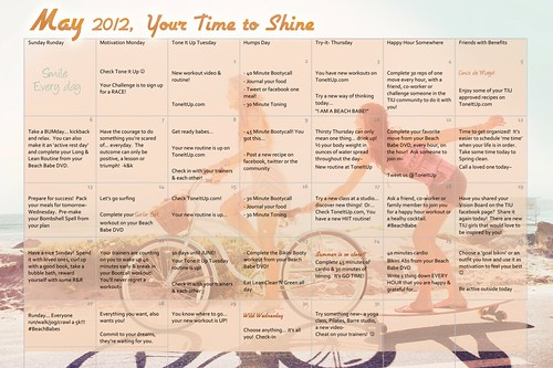 tone it up may fitness calendar | by ToneItUpPics