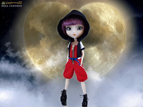 Pullip doll in custom order Kingdom Hearts Sora outfit set | by Hegemony77 - 1/6th scale clothes
