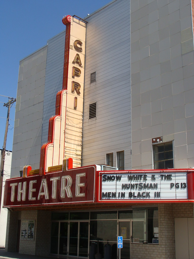 Capri Theatre Marquee Shelbyville Tn Showing Current