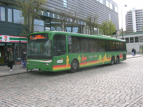 Kolumbus Tri-axle Volvo Service Bus outside Stavanger Bus Station, Norway | by Isle Drive