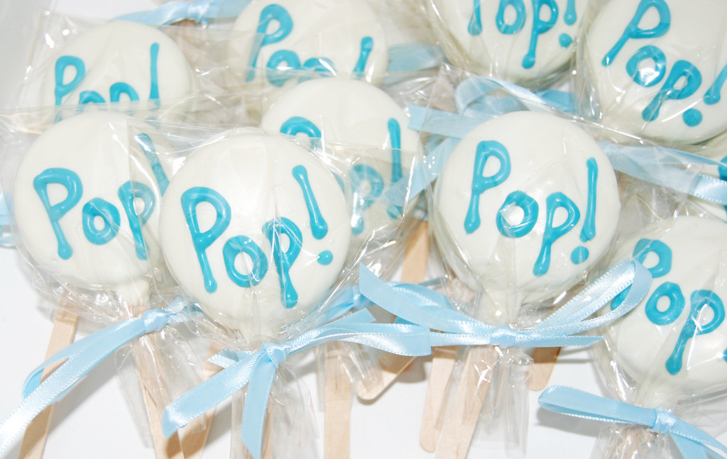 Oreo Pops For A Shes About To Pop Themed Baby Shower Flickr