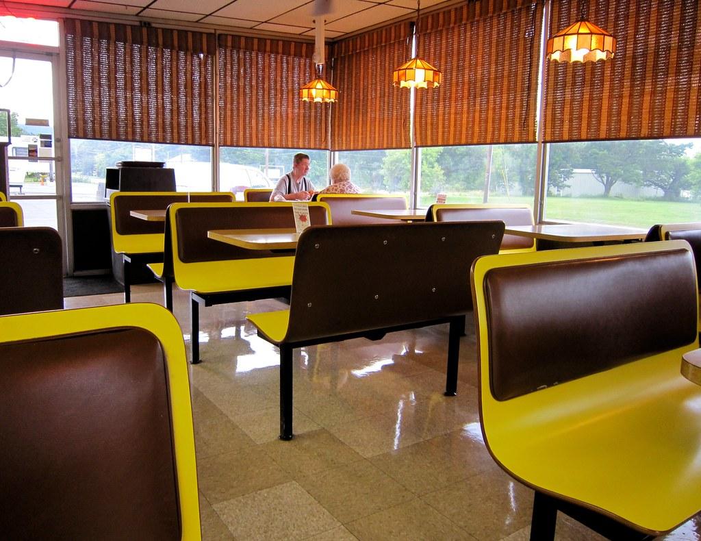 Daisy family restaurant sign interior yellow booths flickr