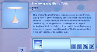 The Wong Way Bistro Table | by SimsVIP