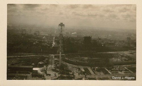 The Hall Of Science, Sky Ride & Soldier Field At The 1933/34 Chicago's Worlds Fair.   13 Of 45 Photos. | by Dan Around Town