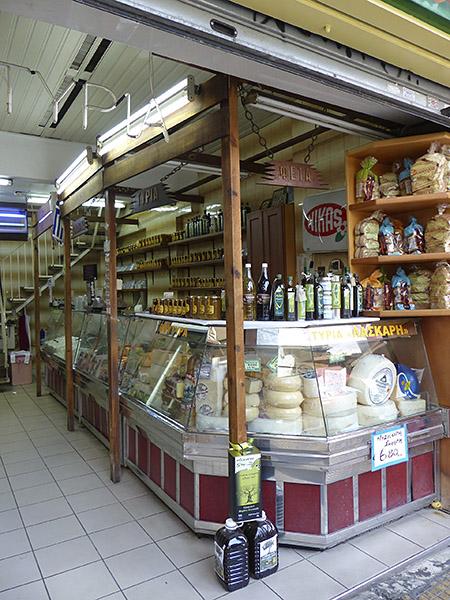 fromager du marché d'Athènes