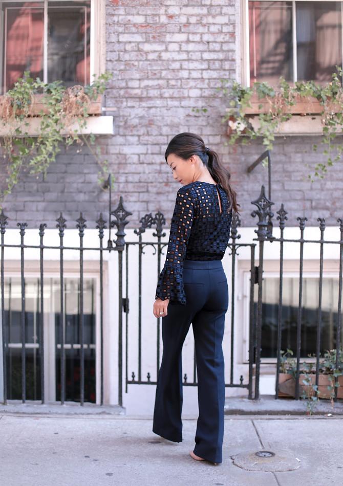 navy blue flare work trouser pants_extra petite blog