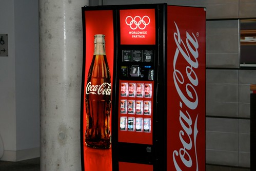 The first Olympic contactless Coca-Cola vending machine in the UK! | by Krowne Communications