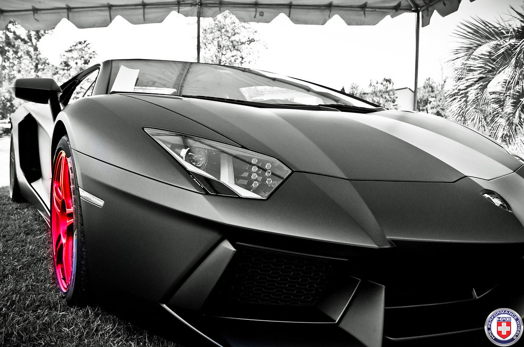 lamborghini aventador lp700 matte black on hre p47sc satin flickr