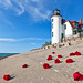 Roses for Point Betsie Lighthouse