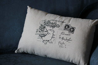 Sparrow Avenue cushion | by Cozy Memories