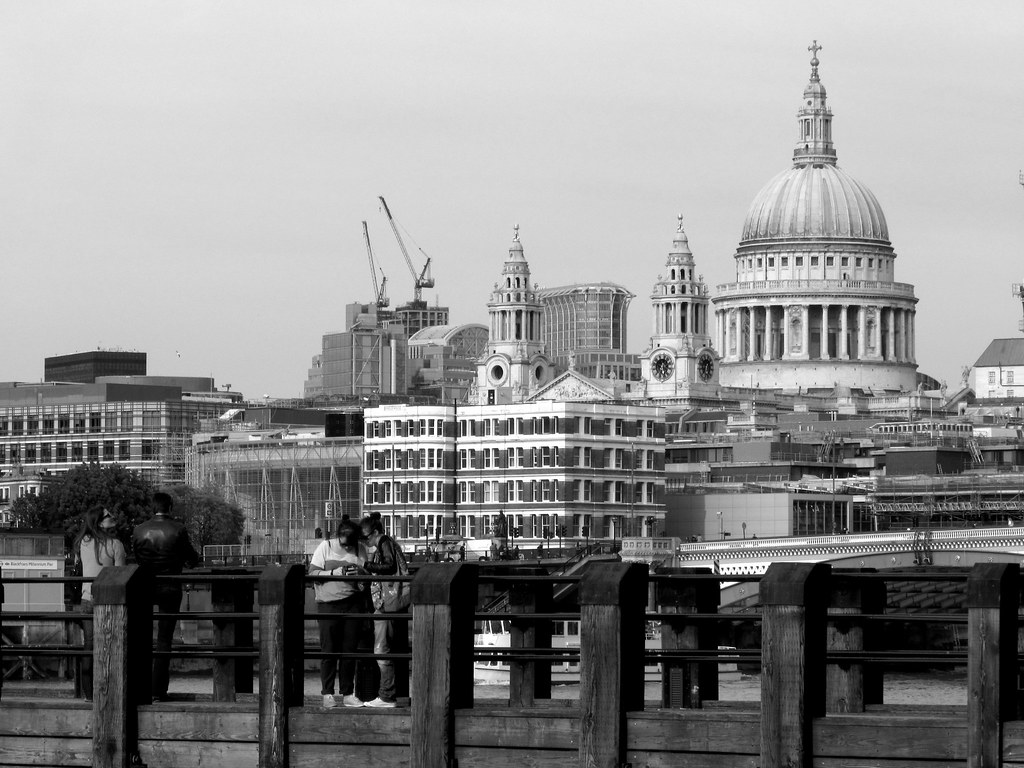 City of London Skyline (Black and White) | St Paul's from ...  London Skyline Black And White