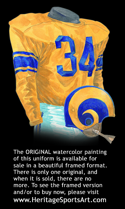 Los Angeles Rams 1951 Uniform Artwork This Is A Highly