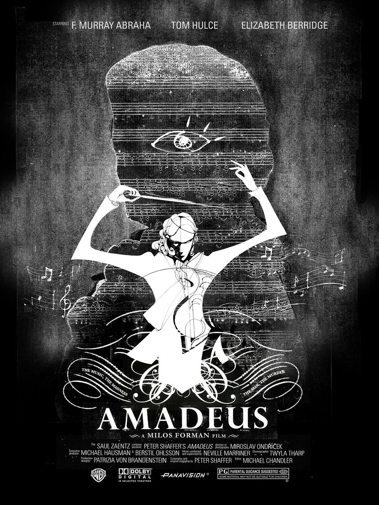 Amadeus Movie Poster ver.01 | photoshop, mixed media | Flickr