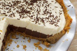 Chocolate Cookie Dough No-Bake Cheesecake | by bakeorbreak
