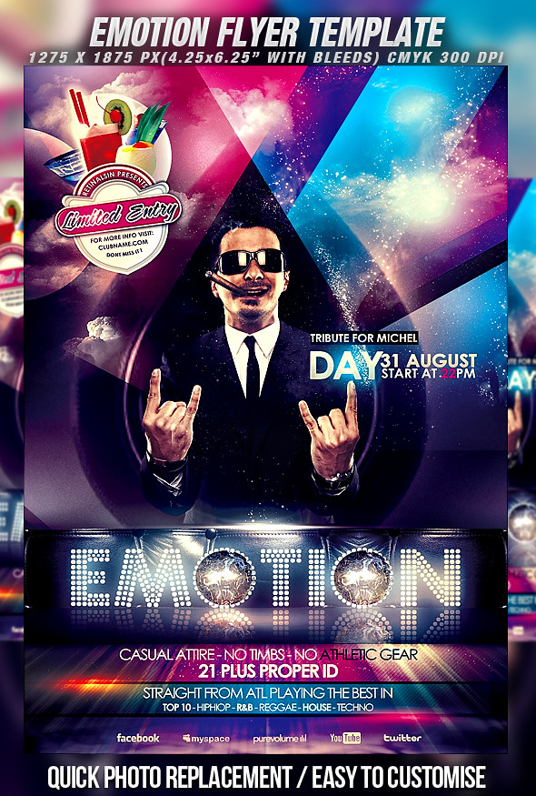Psd Emotion Flyer Template | Download Fully Editable Psd Fil… | Flickr