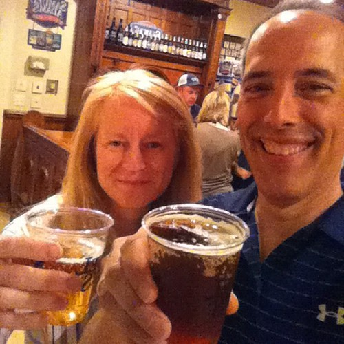 Porch Rocker and Brick Red at Sam Adams. Cheers! | by stevegarfield