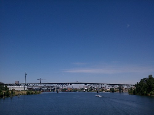 ross island bridge, perfect day | by that orange hat