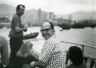 Harold Burson and Bob Leaf celebrating the opening of B-M's Hong Kong office, 1973 | by BMGlobal