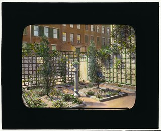 [Unidentified townhouse garden, probably in New York, New York. (LOC) | by The Library of Congress