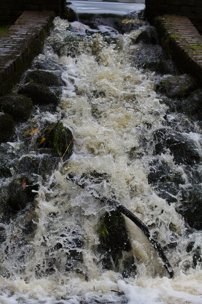 Waterfall: Fast shutter speed - The water appears to be ...