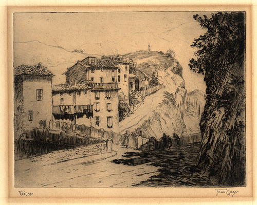 1920s John Gray - Vaison - etching and aquatint - 15 x 20 cm | by blacque_jacques