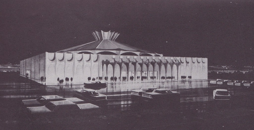 Hyatt Music Theatre Burlingame Rendering C 1964