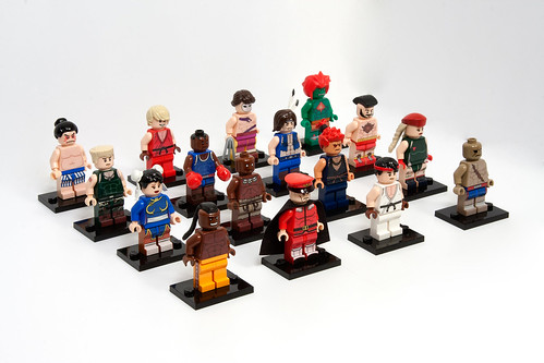 Street Fighter 2 minifigs - complete roster | by levork