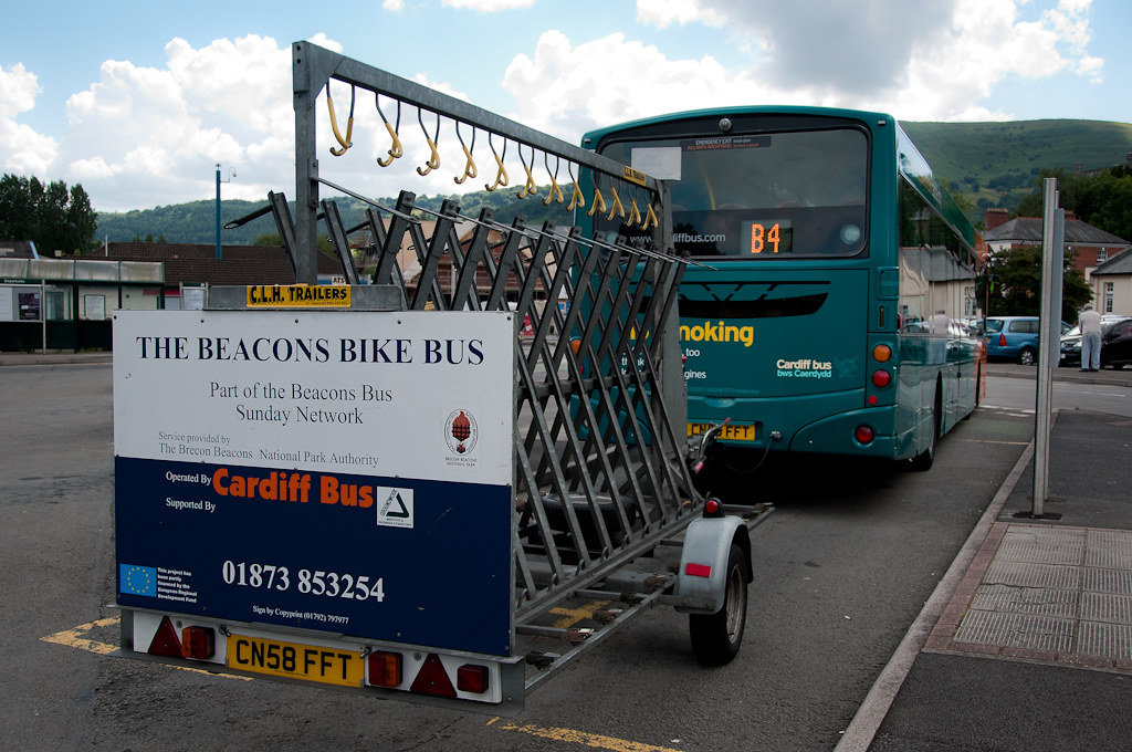The Beacons Bike Bus Cardiff Bus 767 Cn58 Fft Scania