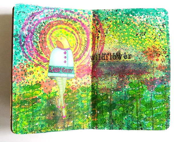 She was a wildflower mini art journal