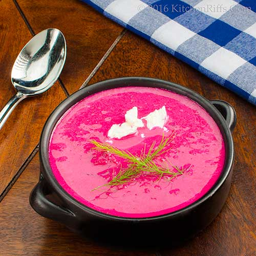 Chilled Beet and Cucumber Soup
