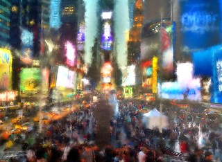 Magic Hour Times Square- iPad Art by David Scott Leibowitz | by David Scott Leibowitz