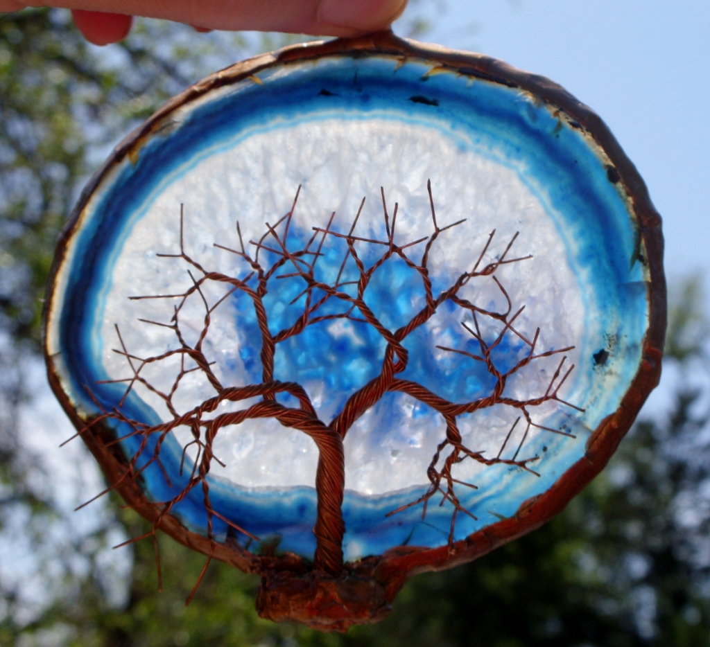Copper Wire Tree Of Life Metal Wall Art Sculpture On A Blu… | Flickr