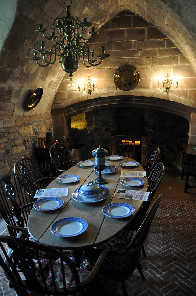 The Dining Room Lindisfarne Castle Holy Island Northumberl ...