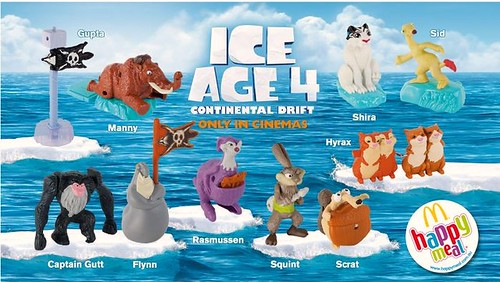 ice age 4 continental drift mcdonalds happy meal toys