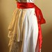 Draped wrap T-shirt wedding dress: side view