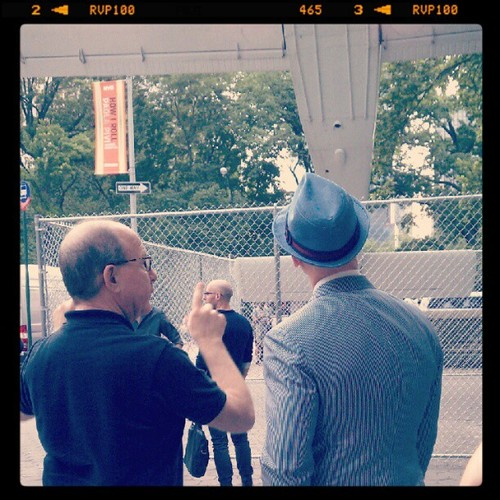"Jerry Saltz and our Director and Chief Curator Nicholas Baume at our preview for ""How I Roll"" 