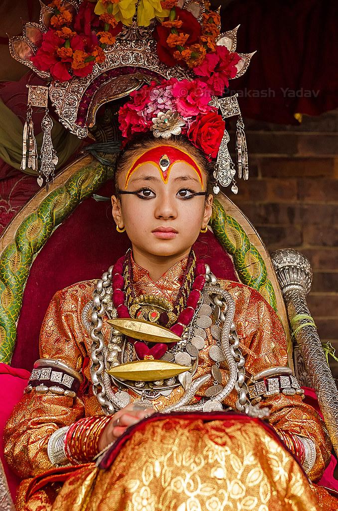 The Living Goddess of Patan | 'Kumari' the living goddess ob… | Flickr