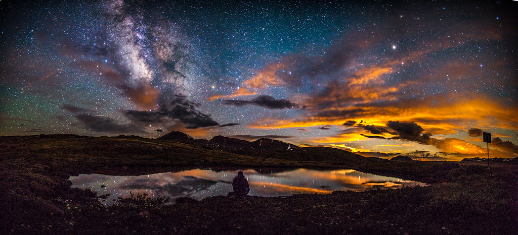 Moonset And The Milky Way On Independence Pass Near Aspen